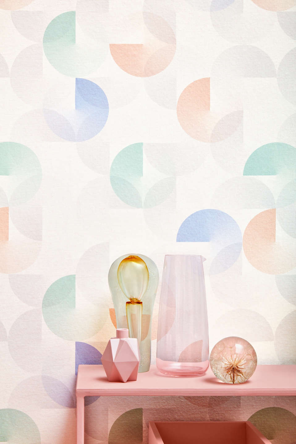 Non-woven wallpaper with a graphic pattern, one colour, detail image number 3