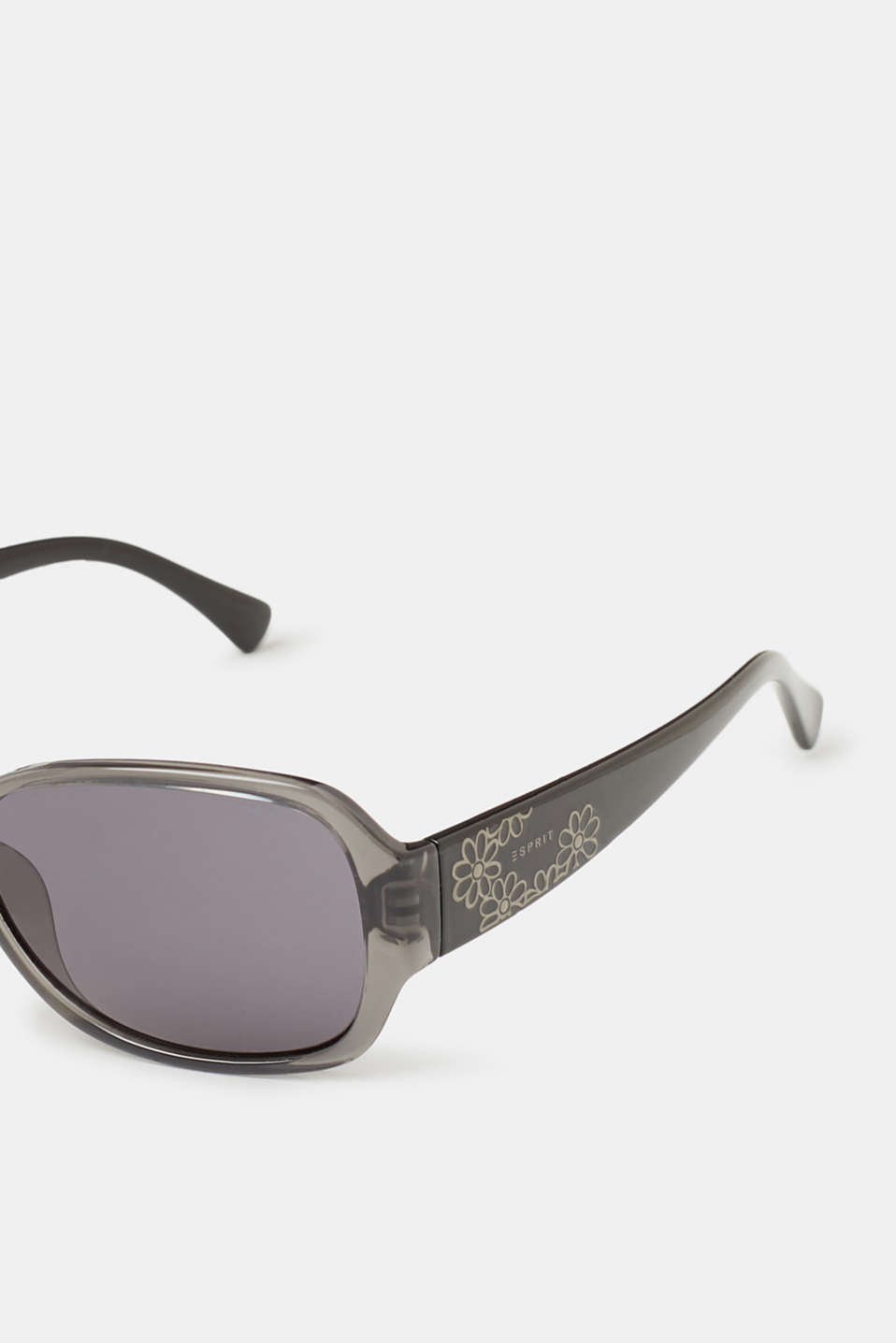 Sunglasses with floral decoration