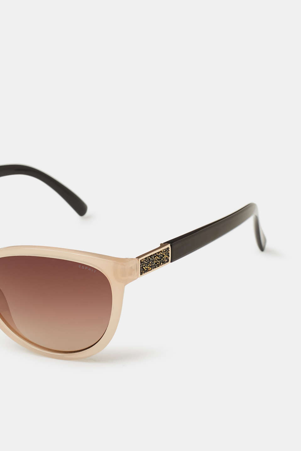 Sunglasses with glittery elements, BEIGE, detail image number 1