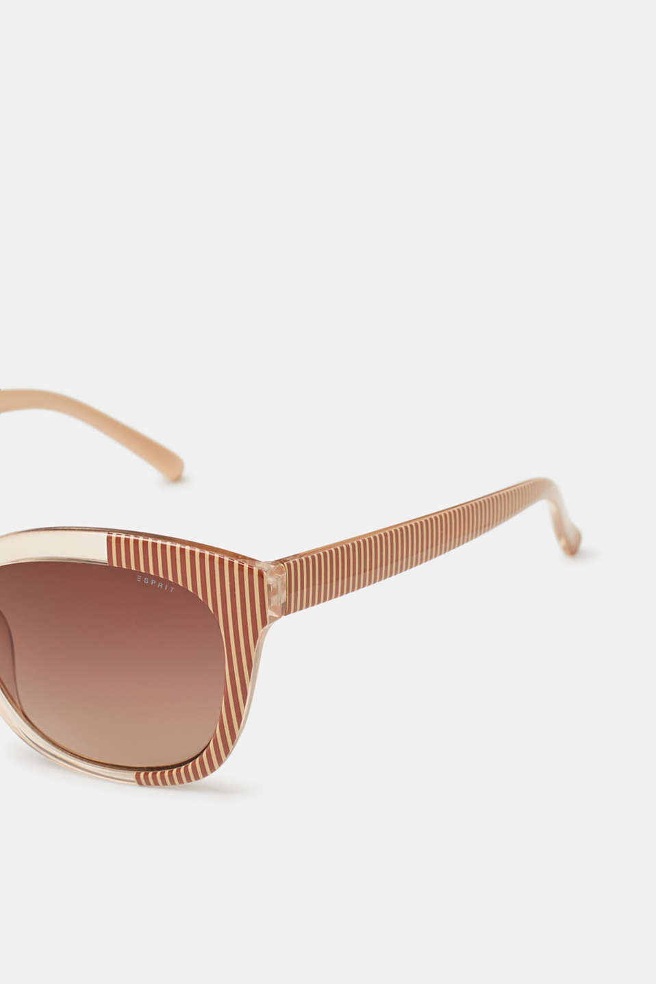 Sunglasses with a striped pattern
