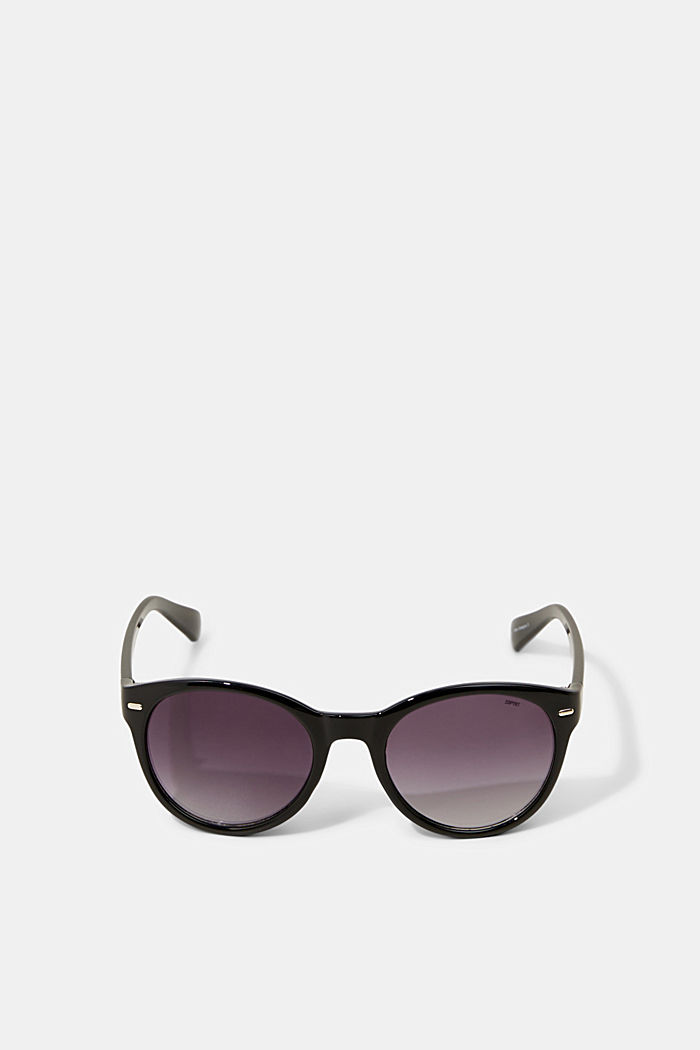 Sunglasses with patterned temples, BLACK, overview