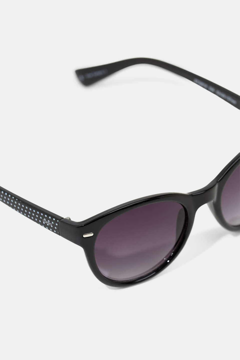 Sunglasses with patterned temples, BLACK, detail image number 3