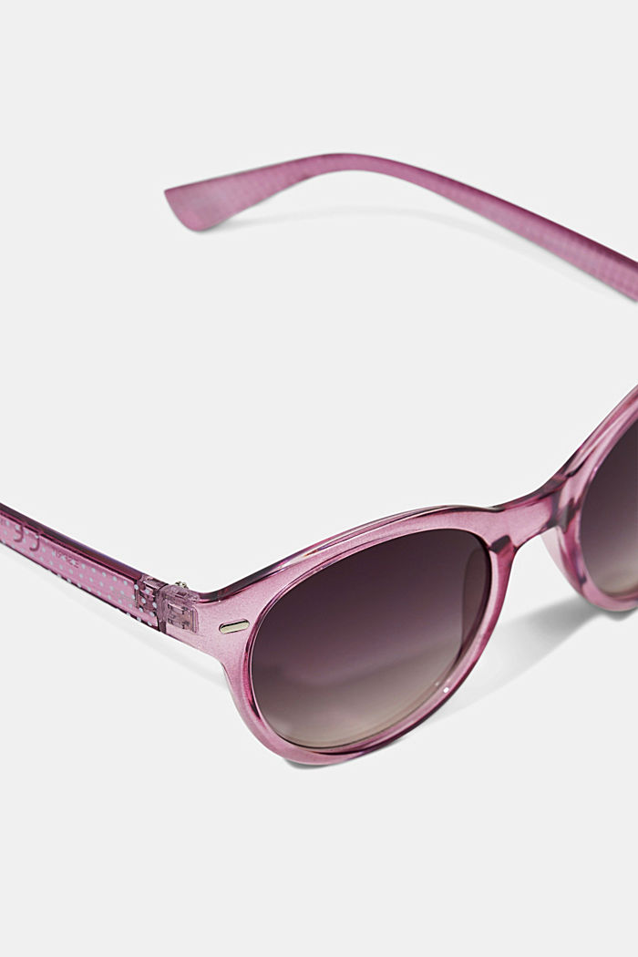 Sunglasses with patterned temples, PURPLE, detail image number 1
