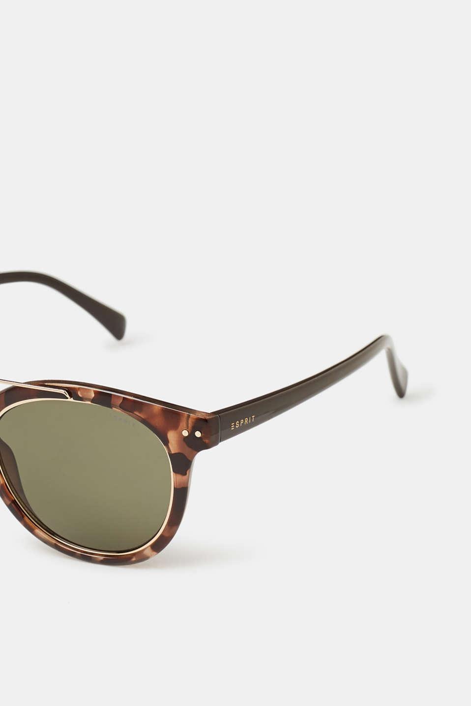 Unisex vintage sunglasses, HAVANNA, detail image number 1