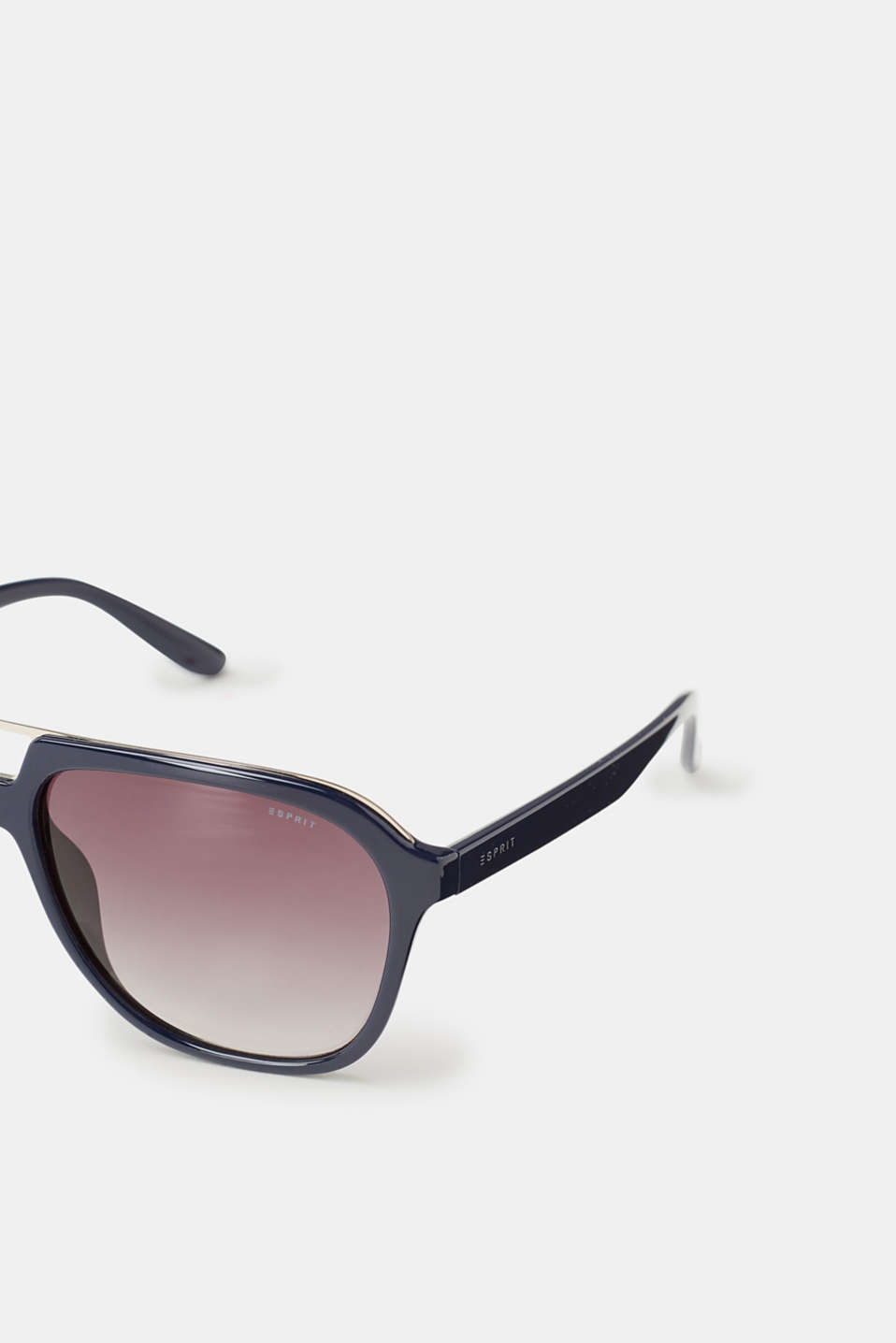 Unisex sunglasses with metal detail