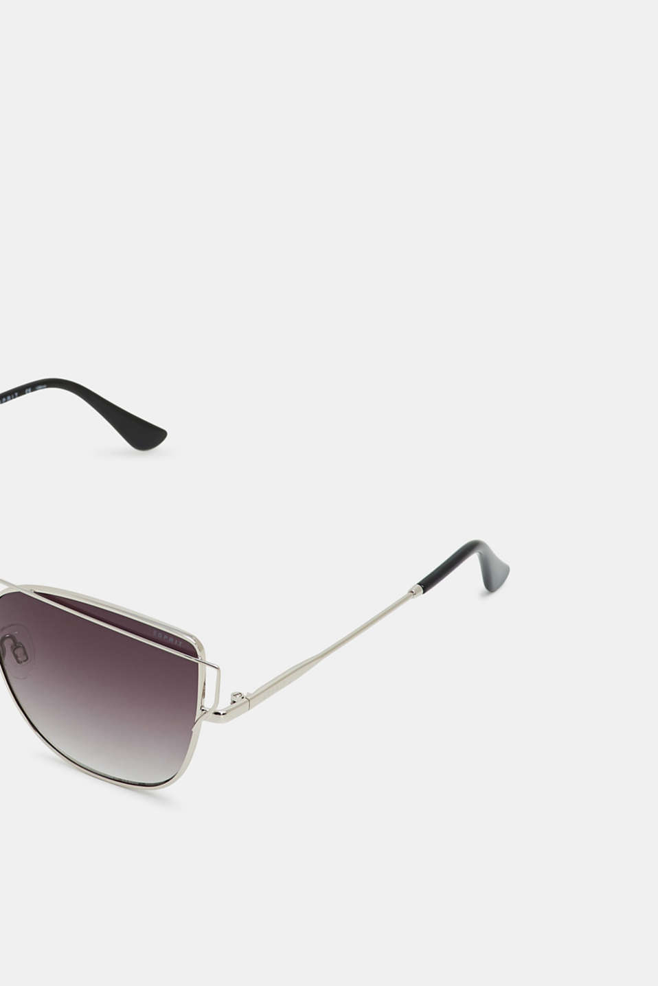 Sunglasses with metal frames, SILVER, detail image number 1