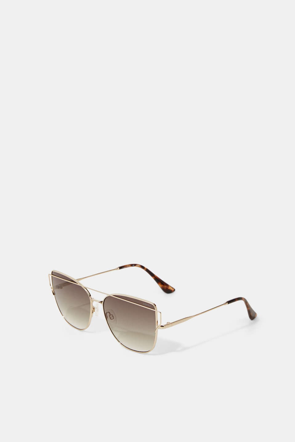 Sunglasses with metal frames, GOLD, detail image number 3