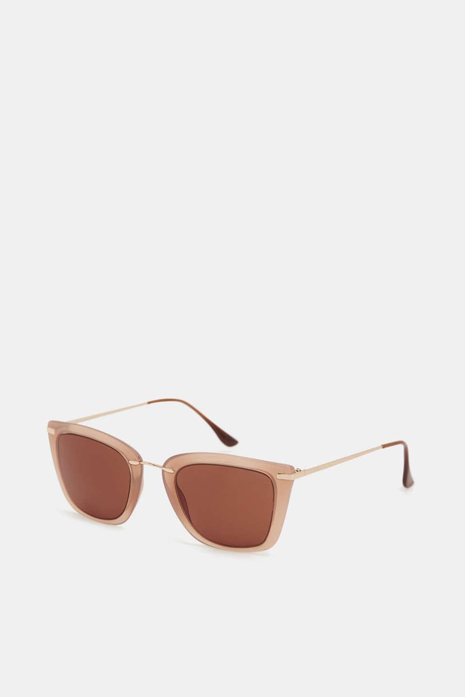 Fine wire frame sunglasses, BEIGE, detail image number 0