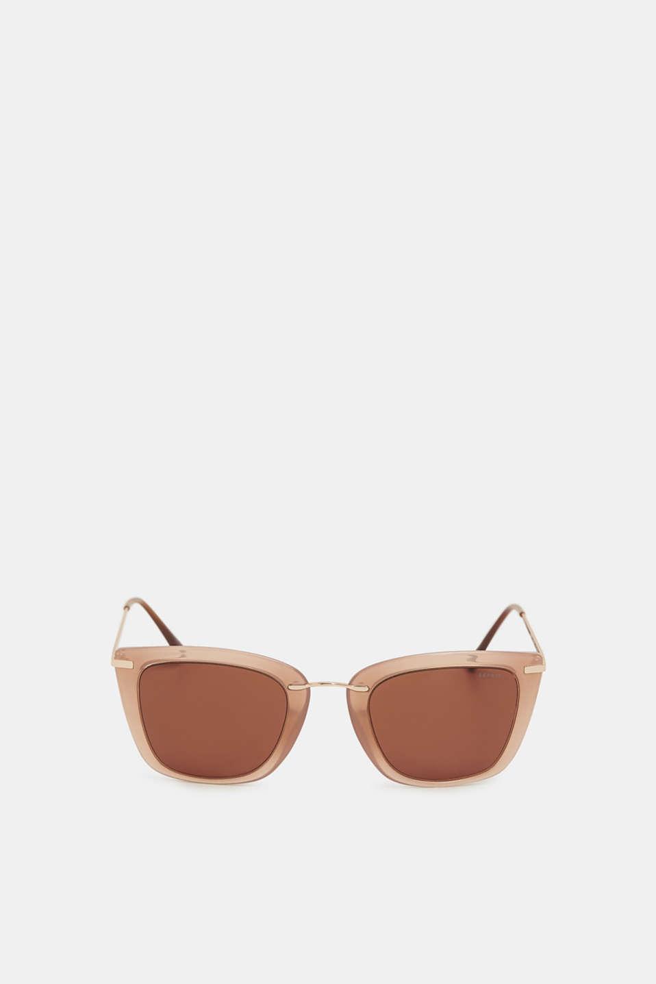 Fine wire frame sunglasses, BEIGE, detail image number 1