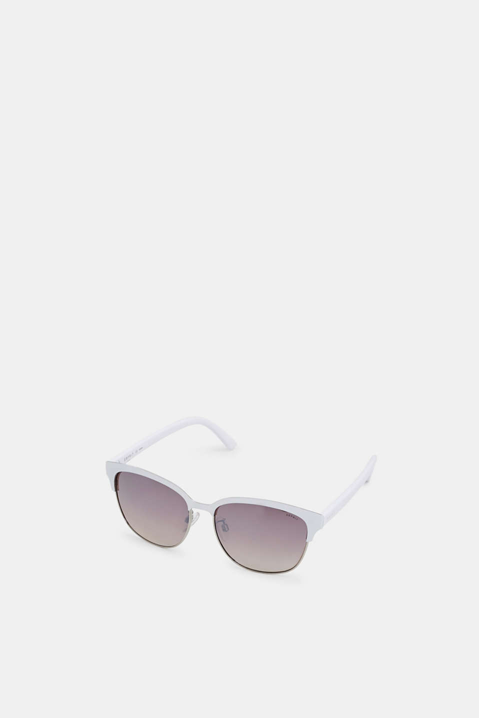 Sunglasses with a vintage look, WHITE, detail image number 0