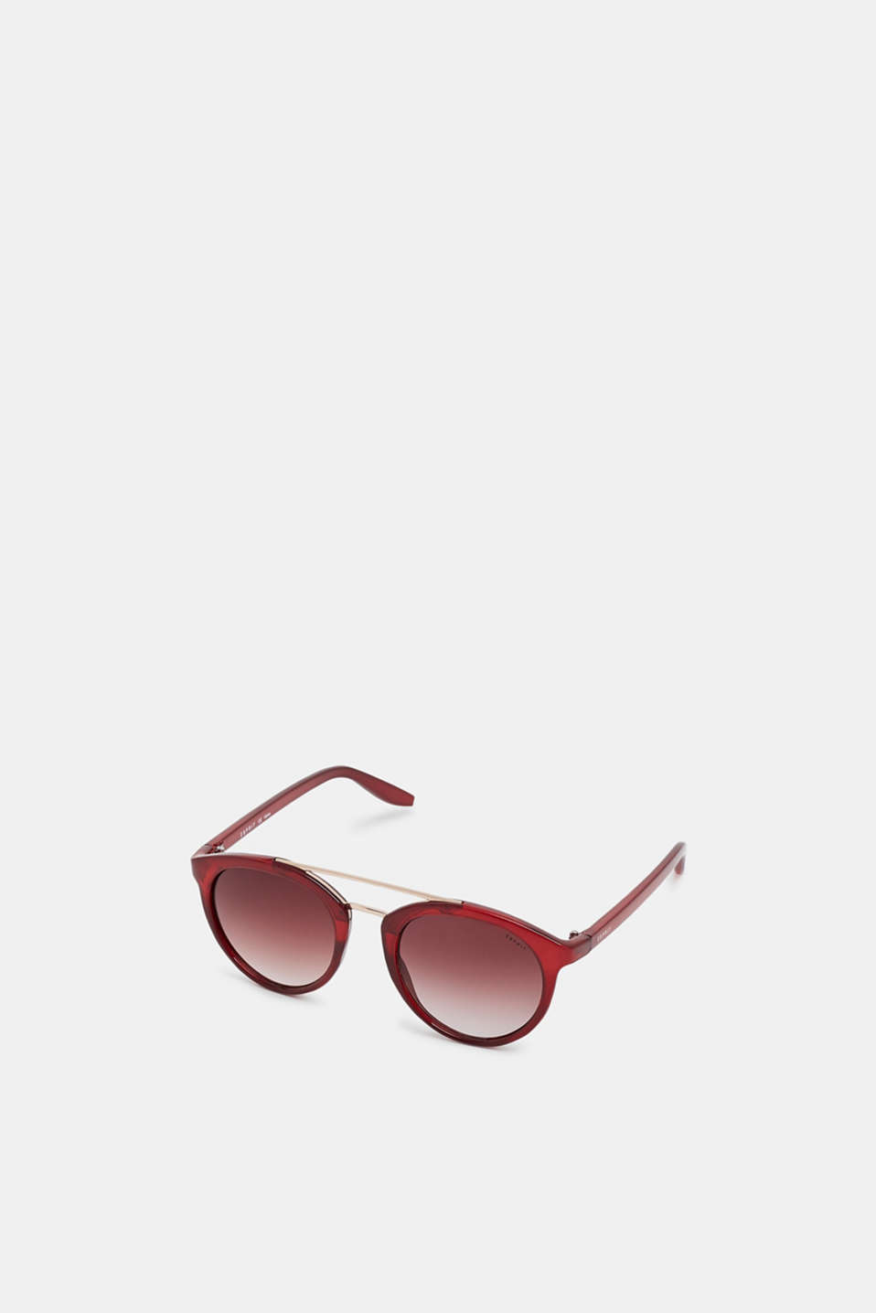 Sunglasses with a metal bridge, RED, detail image number 0