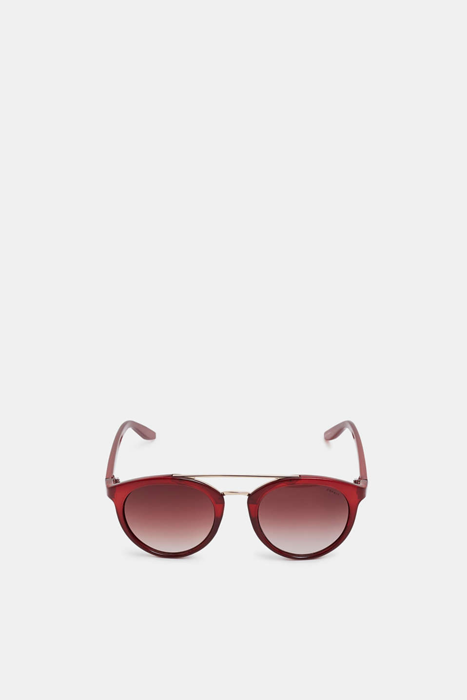 Sunglasses with a metal bridge, RED, detail image number 1