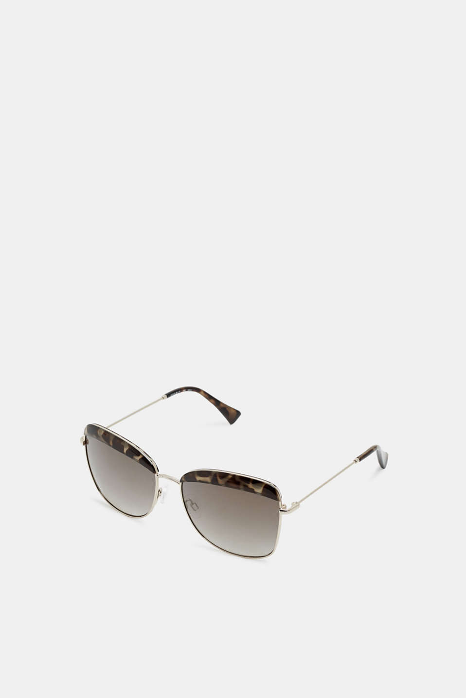 Sunglasses with a leopard accent, HAVANNA, detail image number 1