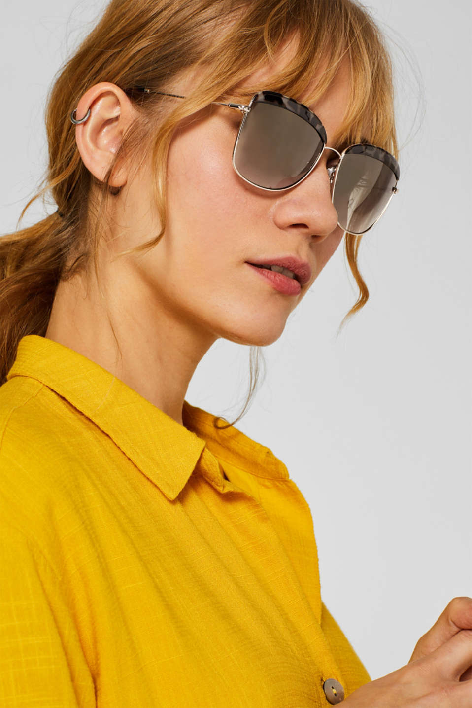 Sunglasses with a leopard accent, HAVANNA, detail image number 2