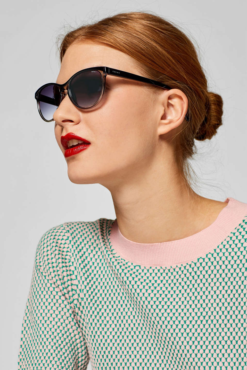 Sunglasses in a two-tone look, BLACK, detail image number 2