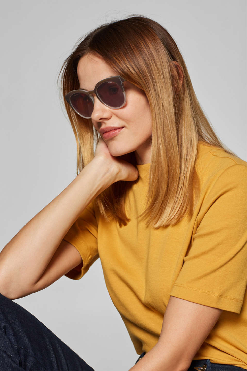 Sunglasses, BROWN, detail image number 2