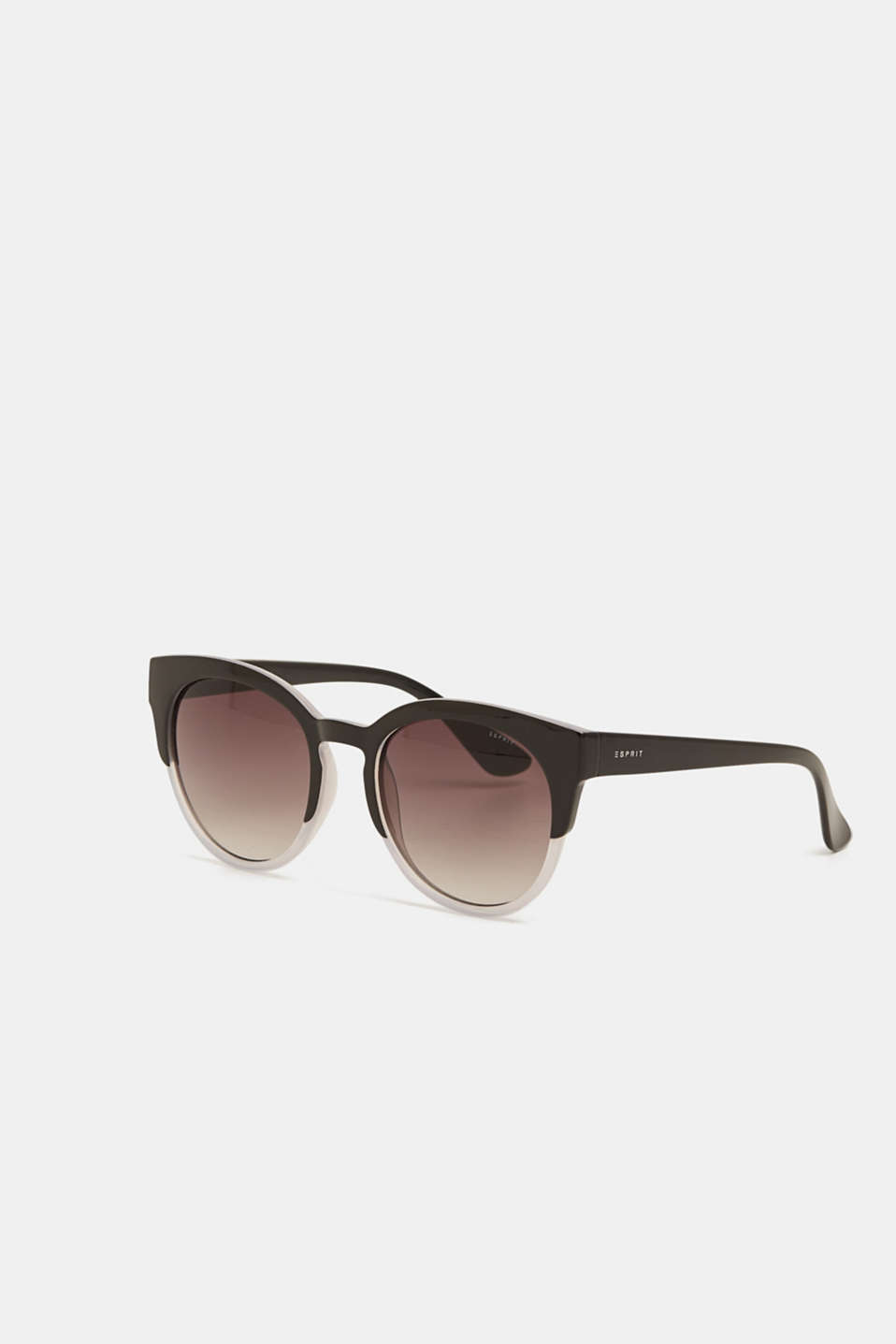 Cat-eye sunglasses in a two-tone look, BLACK, detail image number 0