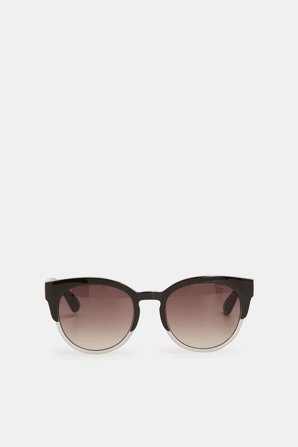 Cat-eye sunglasses in a two-tone look, BLACK, detail image number 1