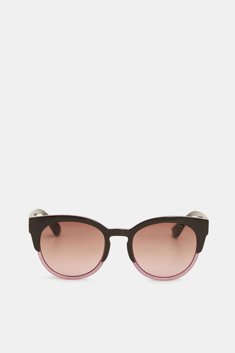 Cat-eye sunglasses in a two-tone look, PURPLE, detail image number 1