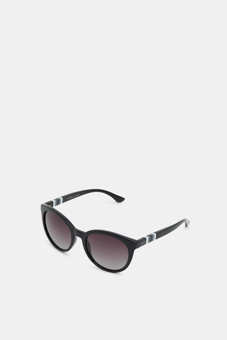 Sunglasses with a striped detail, BLACK, detail image number 0