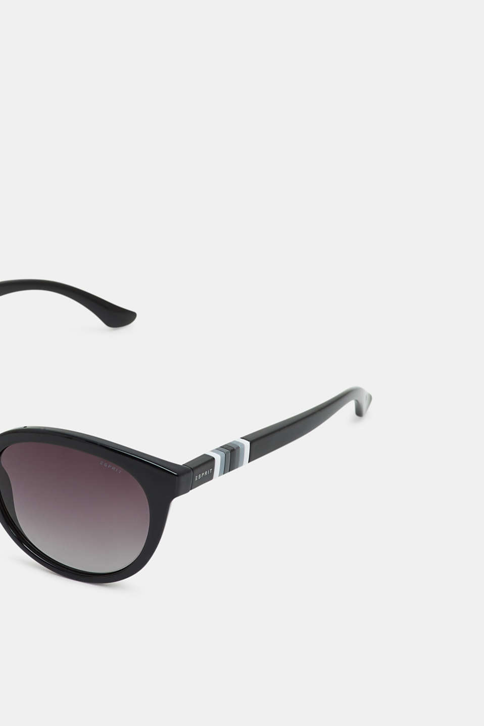 Sunglasses with a striped detail, BLACK, detail image number 1