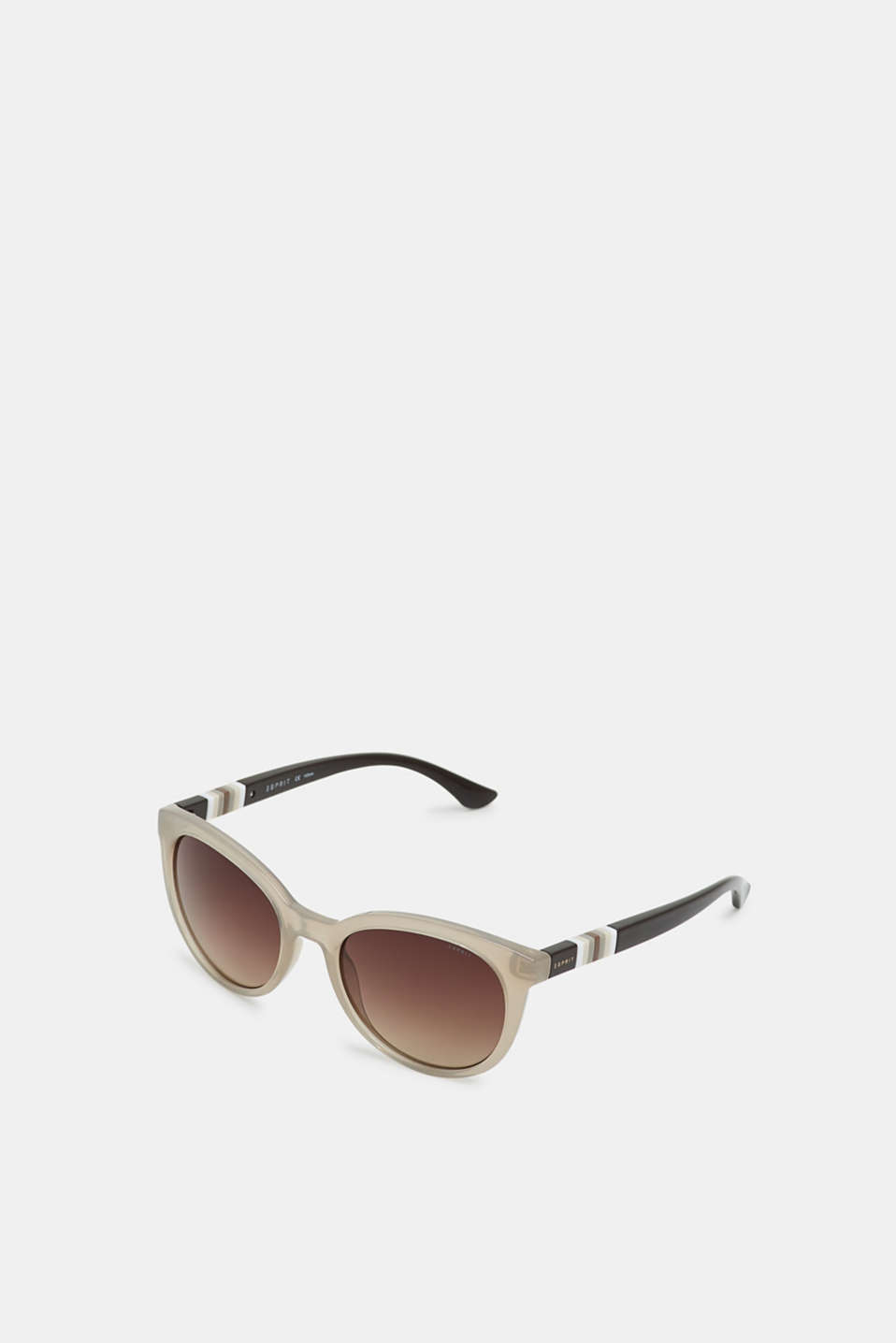 Sunglasses with a striped detail, BEIGE, detail image number 0