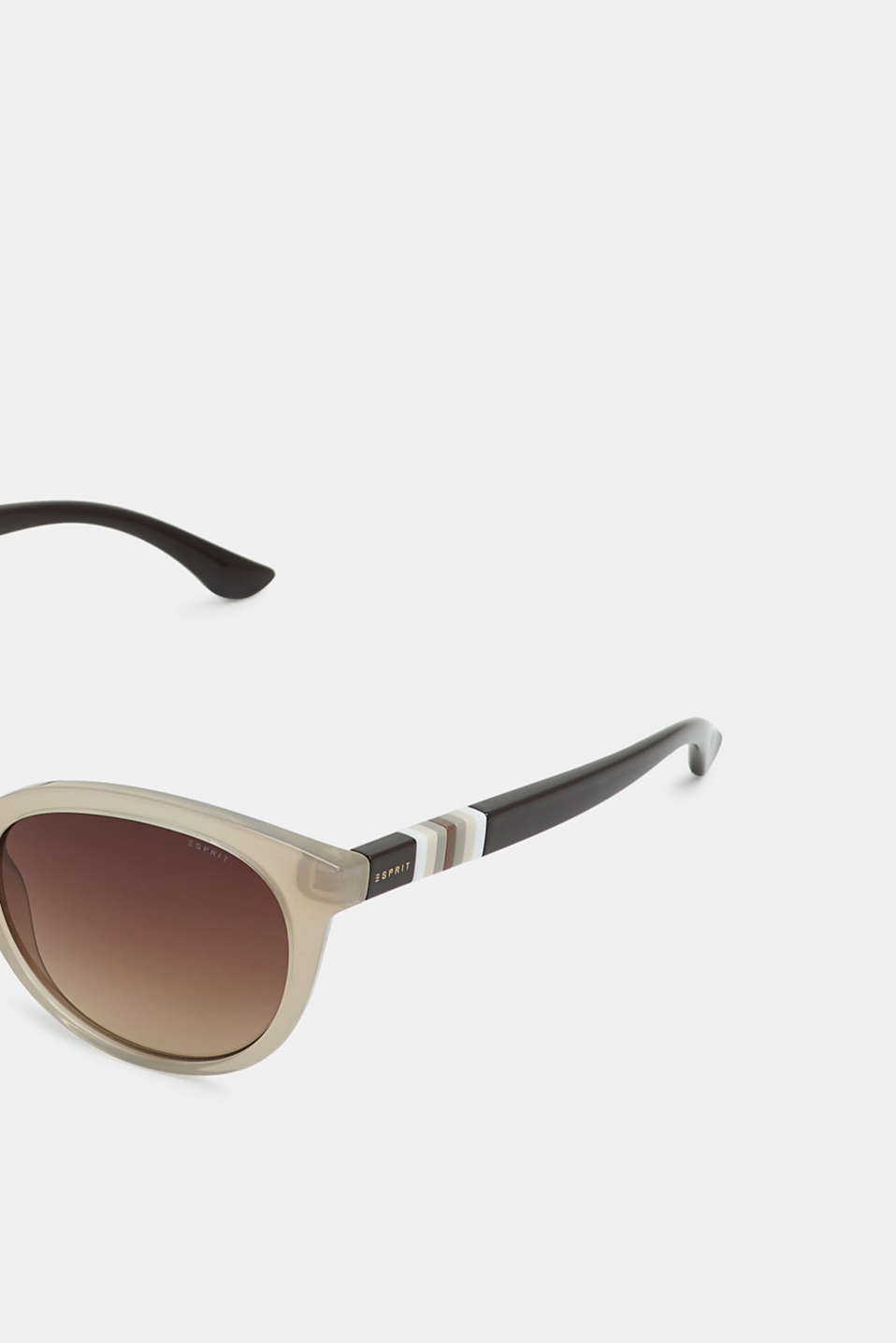 Sunglasses with a striped detail, BEIGE, detail image number 1