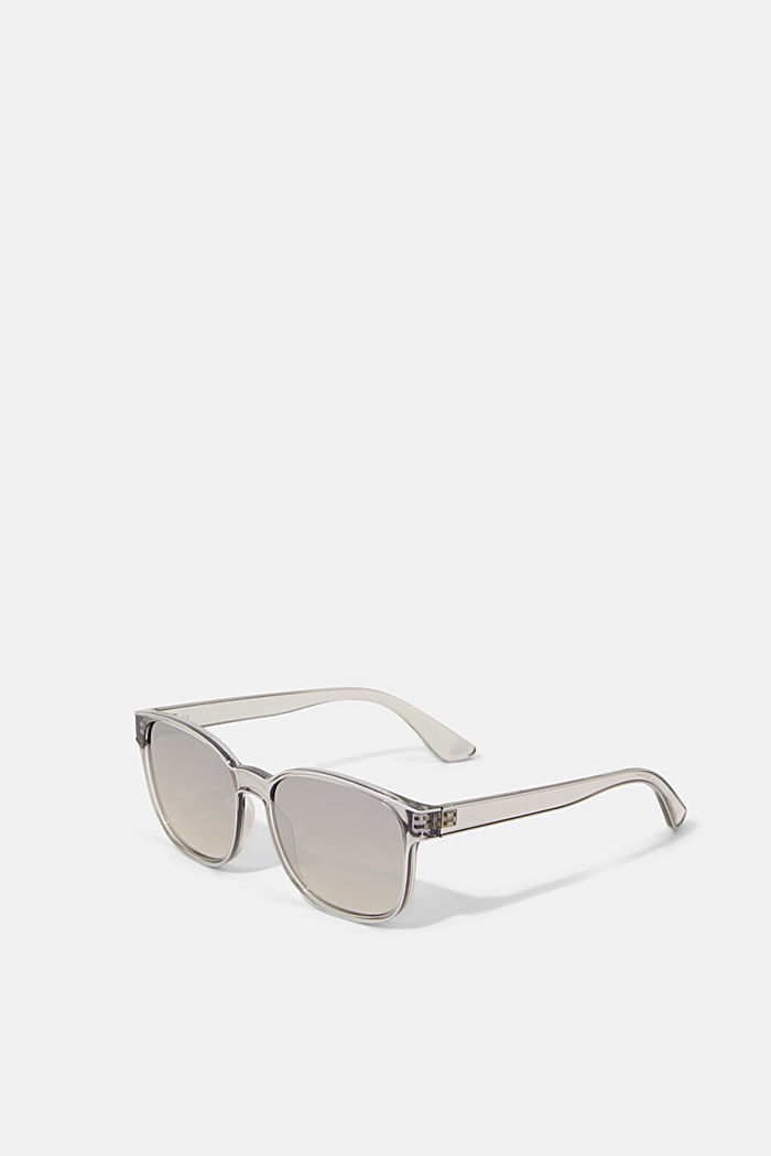 Unisex sunglasses with mirrored lenses, GREY, overview