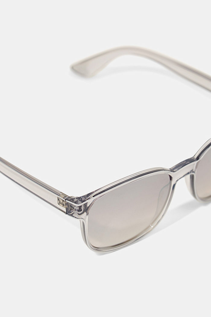 Unisex sunglasses with mirrored lenses, GREY, detail image number 1