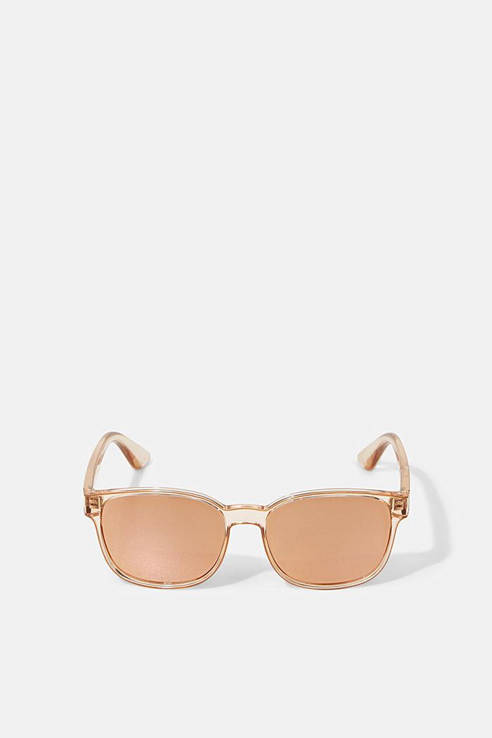 Gafas de sol unisex con lentes de espejo, BEIGE, detail image number 0