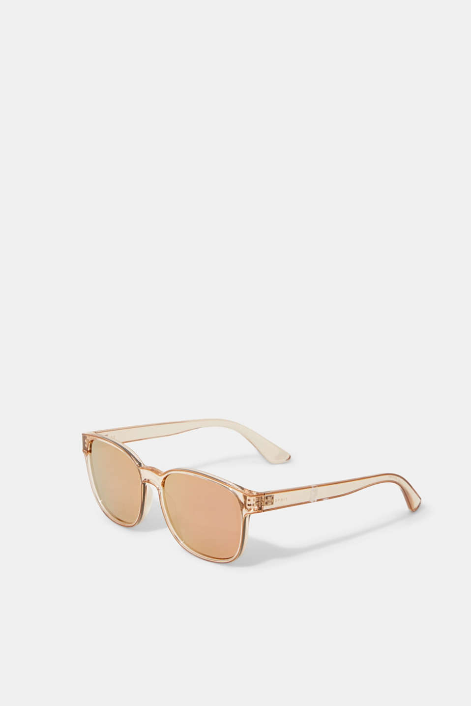 Unisex sunglasses with mirrored lenses, BEIGE, detail image number 3