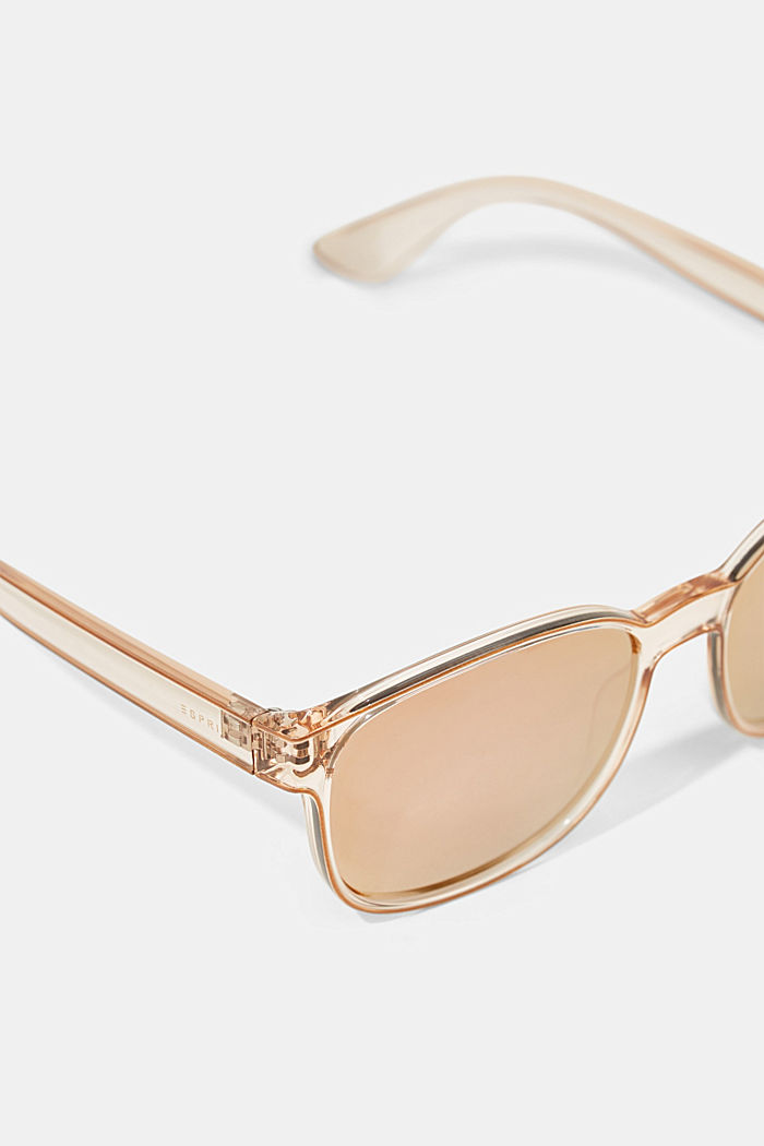 Unisex sunglasses with mirrored lenses, BEIGE, detail image number 1