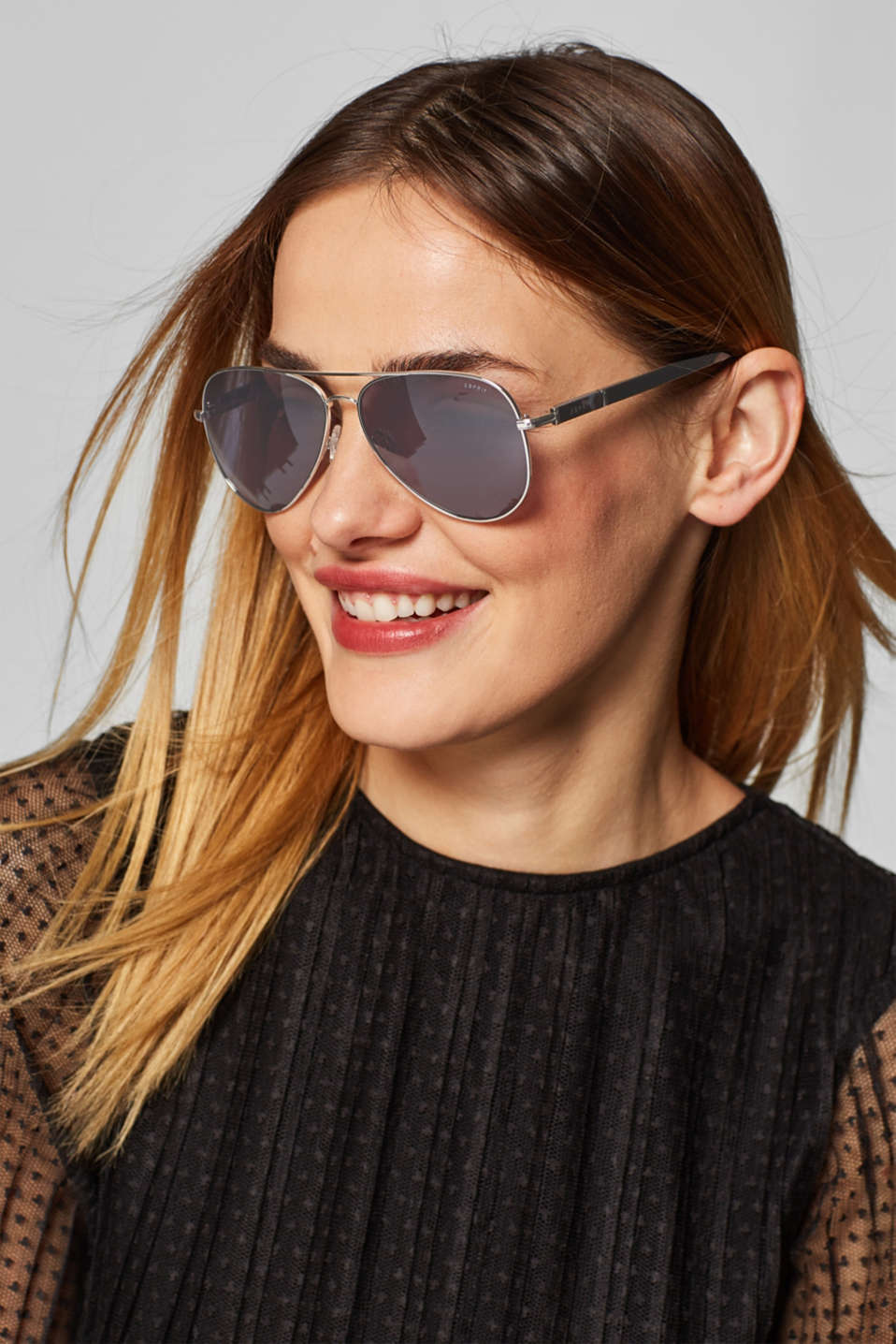 Aviator-style sunglasses, SILVER, detail image number 2
