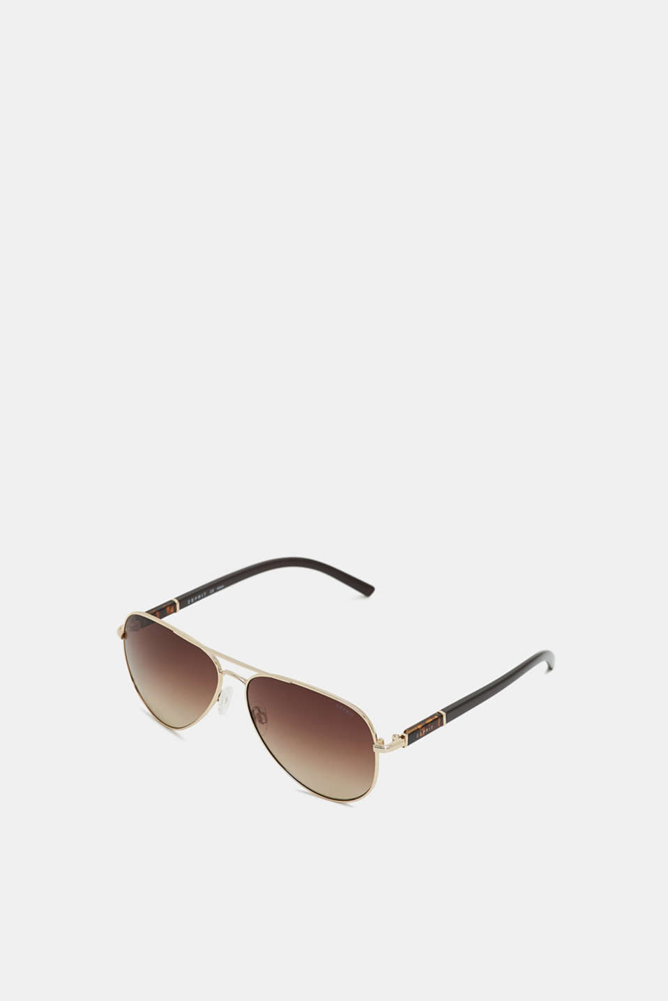 Aviator-style sunglasses, BROWN, detail image number 0