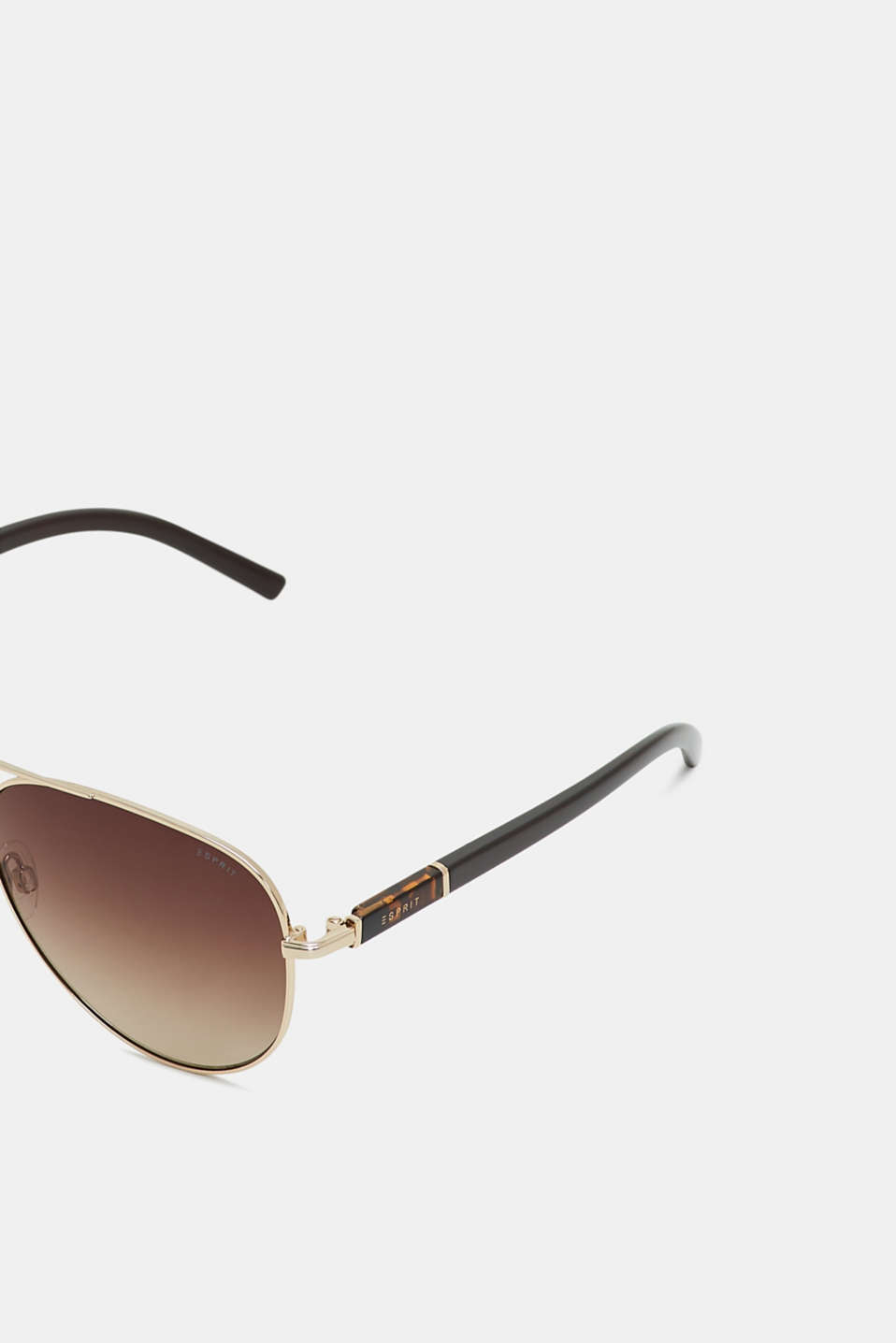 Aviator-style sunglasses, BROWN, detail image number 1
