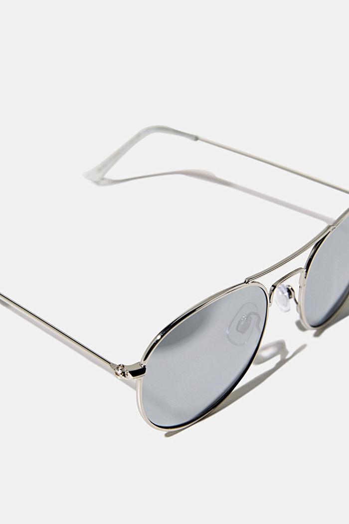 Sonnenbrille mit verspiegelten Gläsern, SILVER, detail image number 1