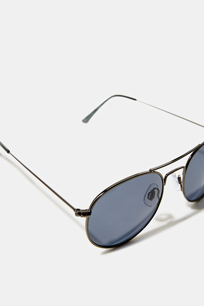 Sunglasses with mirrored lenses, BLUE, detail image number 1