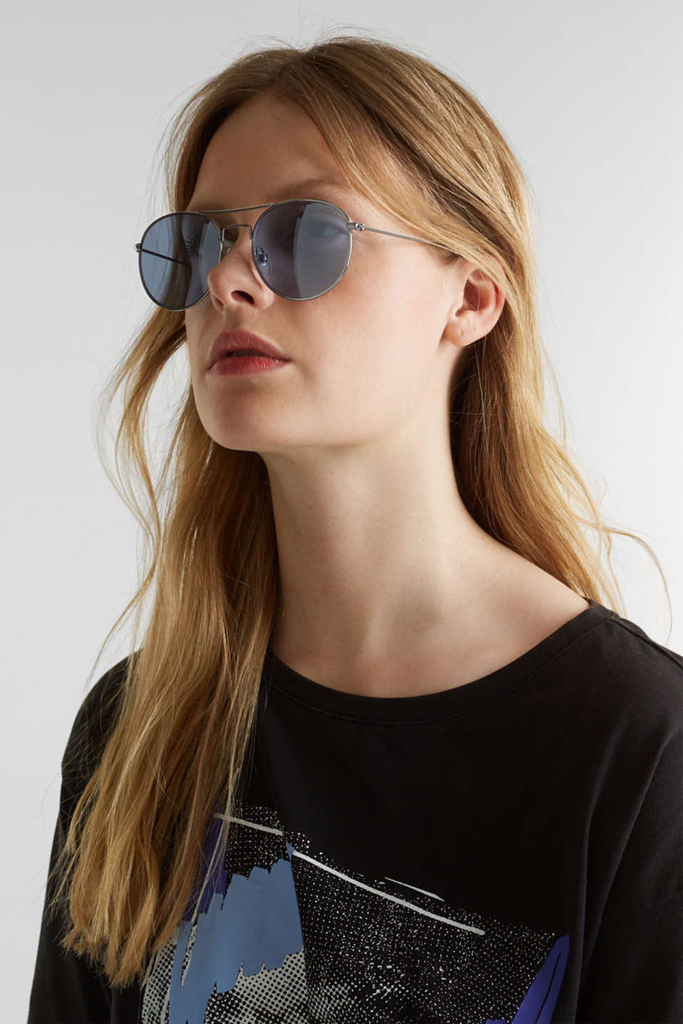 Sunglasses with mirrored lenses, LCBLUE, detail image number 2