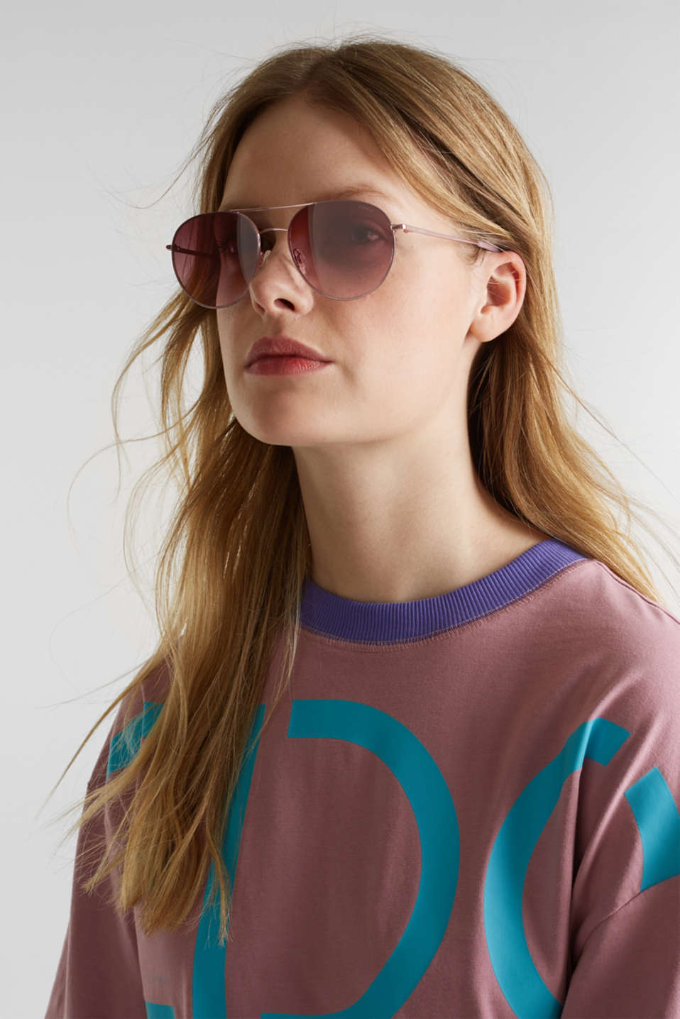 Sunglasses with metal frame, ROSE, detail image number 2