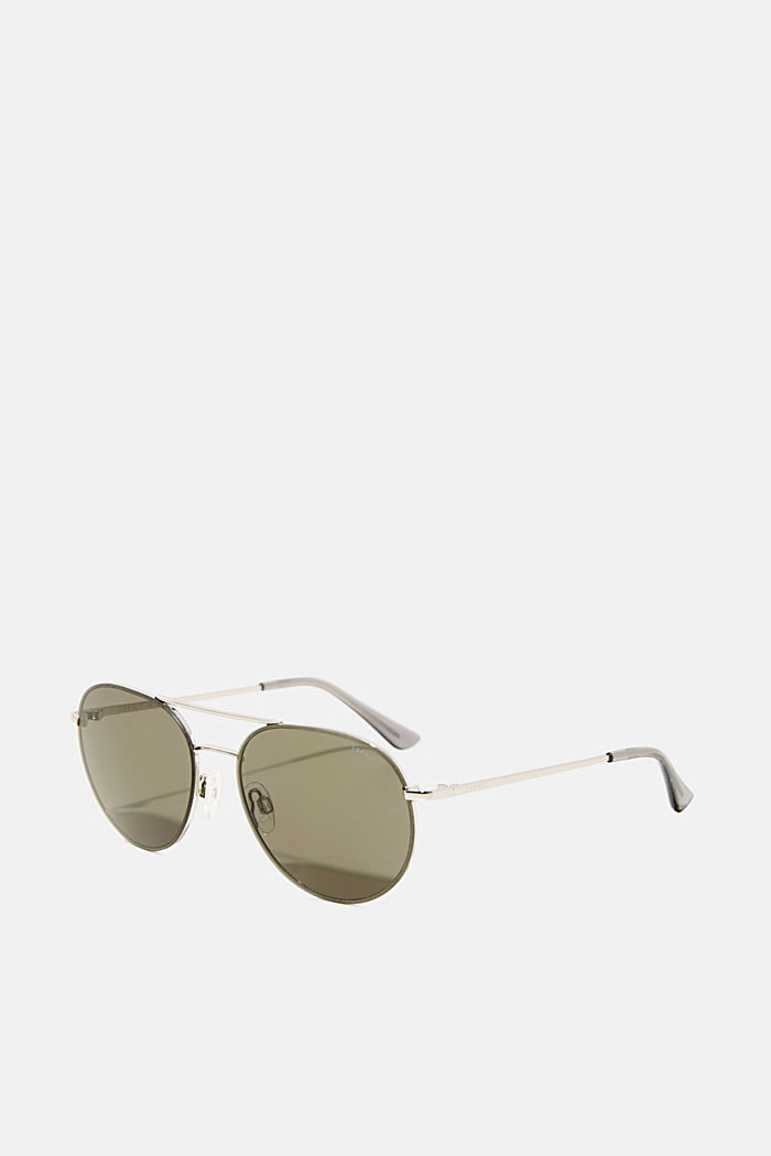 Sunglasses with metal frame, GREEN, detail image number 0