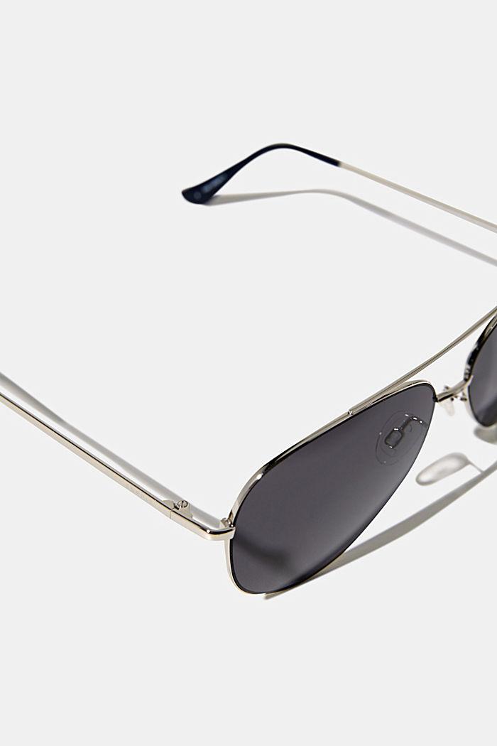 Unisex-Sonnenbrille mit Metallrahmen, LCGRAY, detail image number 1