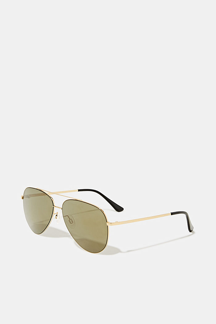 Unisex sunglasses with metal frames, GOLD, detail image number 0