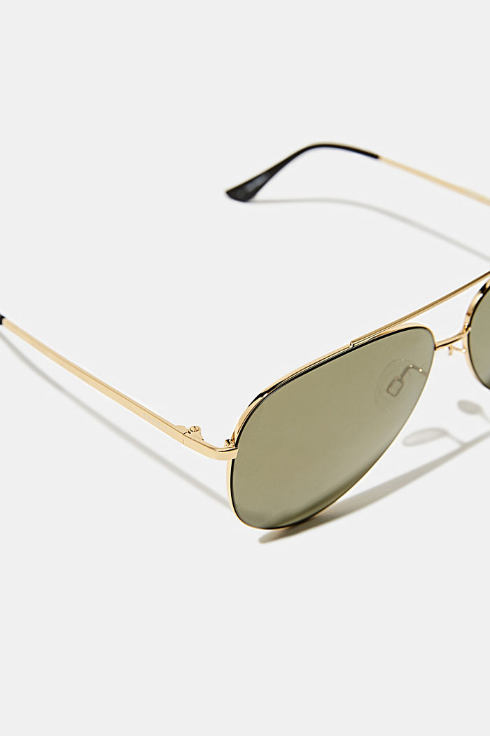 Unisex sunglasses with metal frames, GOLD, detail image number 1