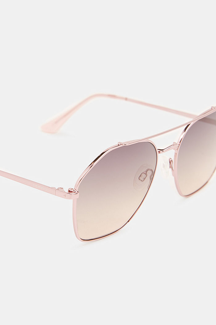 Sonnenbrille mit Metallrahmen, ROSE, detail image number 1