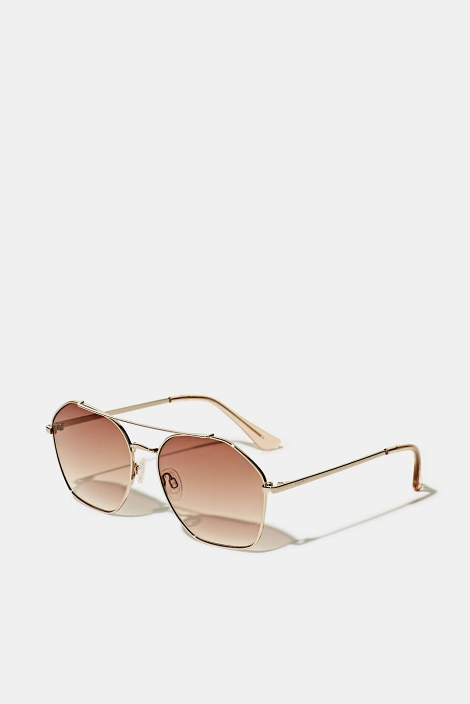 Sunglasses with metal frame, LCBROWN, detail image number 0