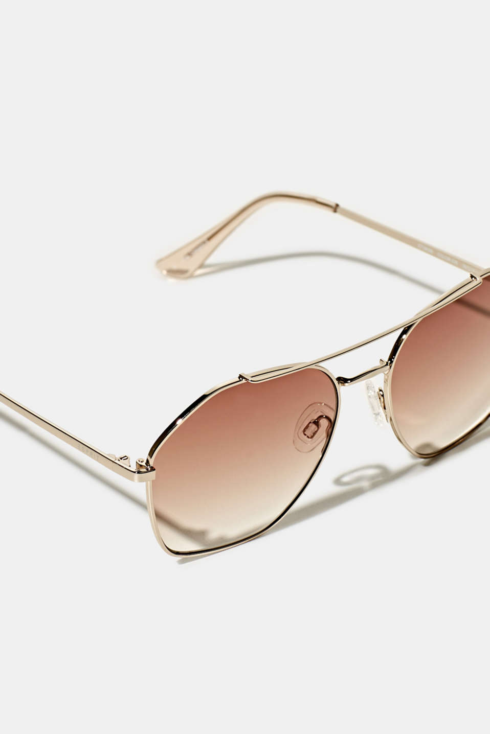 Sunglasses with metal frame, LCBROWN, detail image number 1