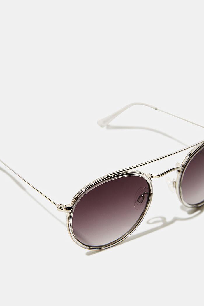 Runde Sonnenbrille mit Metallrahmen, GREY, detail image number 1