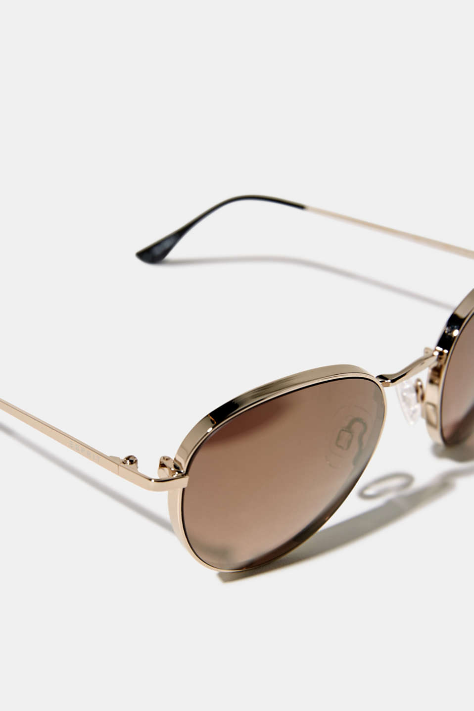 Sunglasses with mirrored lenses, GOLD, detail image number 1