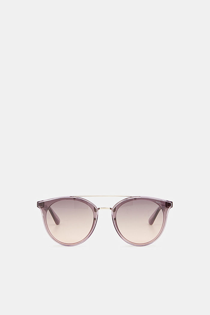 Sunglasses with a metal bridge, PURPLE, detail image number 0