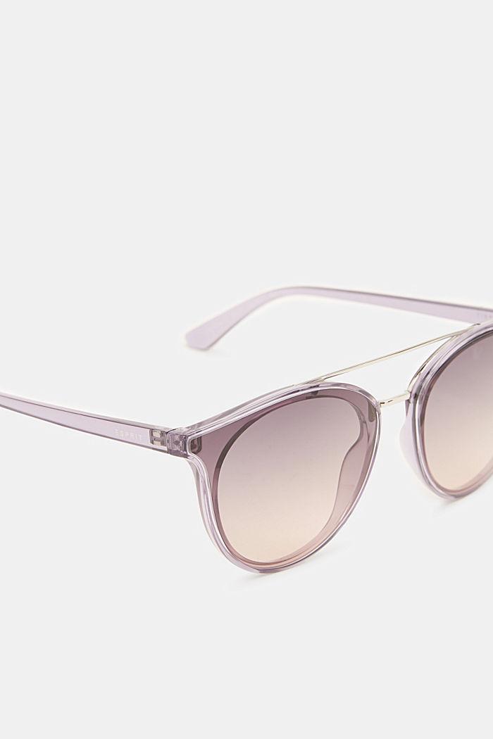 Sunglasses with a metal bridge, PURPLE, detail image number 1